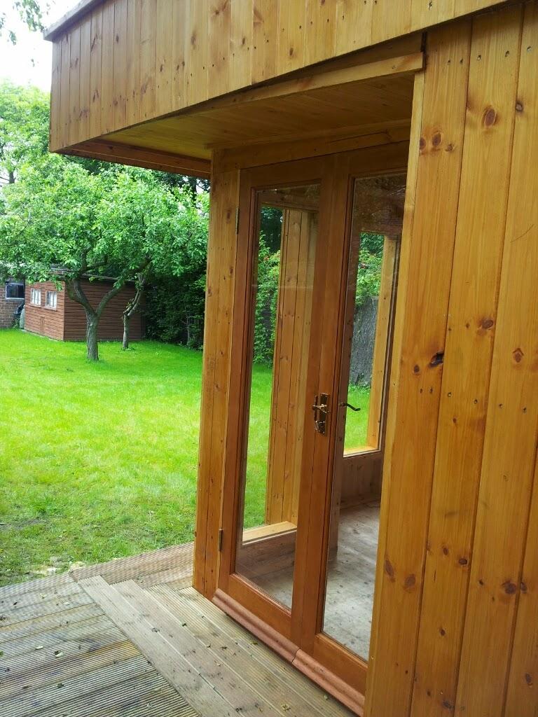 Cedar panelled garden room