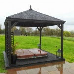 wood canopy for hot tub