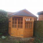 Corner summerhouse