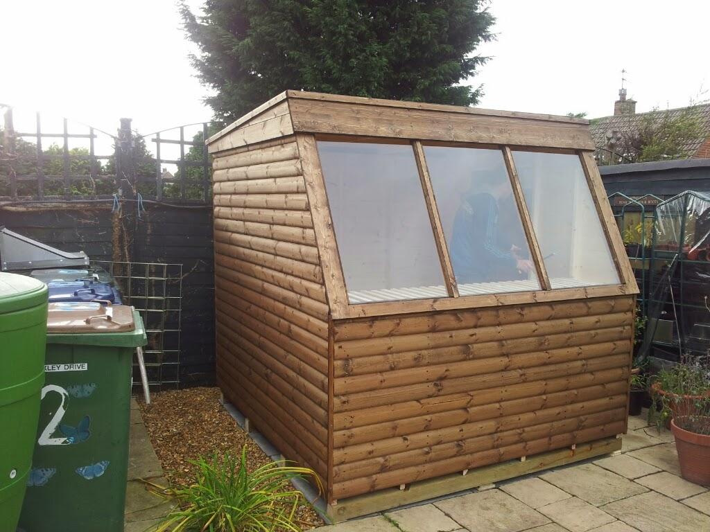 Potting shed, greenhouse