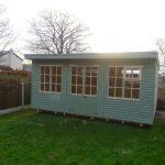pent roof summerhouse