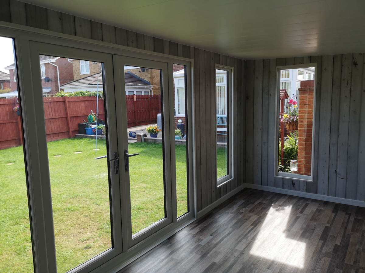 Fully lined and insulated garden room