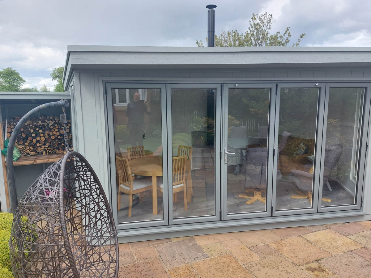 Strongcore Summerhouse with bifold doors